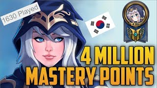 Download Silver Korean Mid Lane ASHE 4,000,000 MASTERY POINTS- Spectate 2nd Highest Mastery Points on Ashe Video