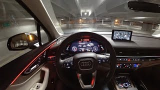 Download 2017 Audi Q7 2.0t Premium Plus - POV Night Drive (Binaural Audio) Video