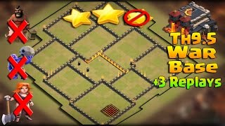 Download Clash of Clans - Townhall 9.5 Anti 3 Star / Anti everything Warbase w/ Bomb Tower + 3 Defense Replay Video
