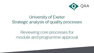 Download Case study - University of Exeter: Strategic analysis of quality processes Video