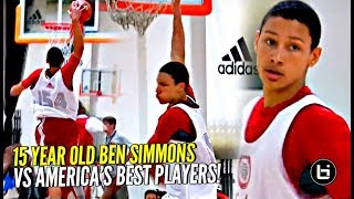 Download 15 Y/O Ben Simmons DOMINATING vs America's BEST in FIRST Summer In USA at Adidas Nations! Video