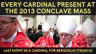 Download Opening Conclave Mass 2013 | Bergoglio (Pope Francis) last public event as a Cardinal Video