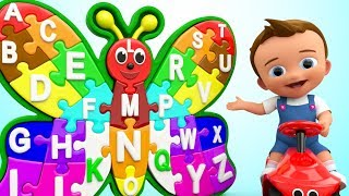 Download Baby Learning Alphabets Nursery Rhyme Colors with Wooden Butterfly Puzzle Toy Set for Kids Children Video
