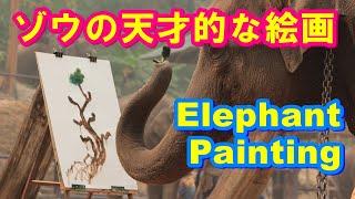Download Elephants' Painting 【タイ】ゾウの天才的な絵画 Video