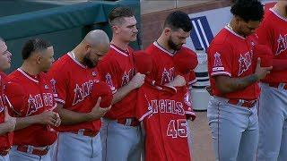 Download Tyler Skaggs honored with emotional moment of silence | FOX Sports West Video