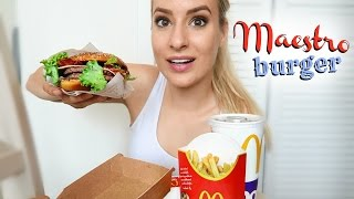 Download EATING SHOW: McDonalds Maestro Burger!!!! WIth Old Amsterdam Cheese!!! Video