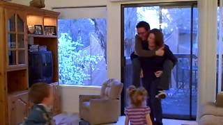 Download Daddy gets a piggy back ride from Mommy Video