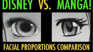 Download Disney Vs. Manga: Facial Proportions Compared Video