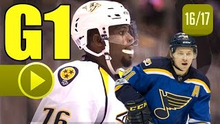 Download Nashville Predators vs St. Louis Blues. 2017 NHL Playoffs. Round 2. Game 1. 04.26.2017. (HD) Video