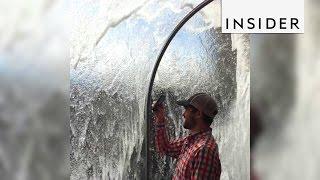 Download The Monterey Bay Aquarium has a feature that lets you walk under the ocean Video