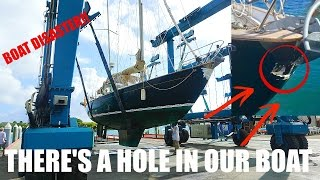 Download Our Boat Crashed Into a Bridge and Has A Hole In It. Ep. 21 - Sailing Salty Mermaid Video