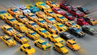 Download Transformers Yellow Red Black Colors Bumblebee Cliffjumper Stinger Police 40 Vehicles Robot Car Toys Video