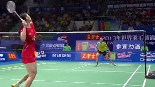 Download R. Intanon v Li X.  WS-F  Wang Lao Ji BWF World Champ. 2013 Video