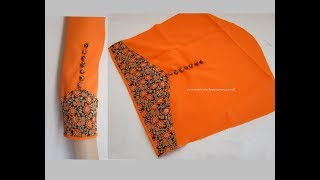 Download Amazing Designer Sleeves for Churidar / Kurti Cutting & Stitching - Very Simple & Easy Making Video