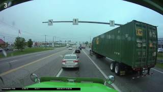 Download What You Don't Do In Front Of A Semi Truck! Video