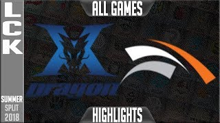 Download KZ vs HLE Highlights ALL GAMES | LCK Summer 2018 Week 7 Day 1 | King-Zone DragonX vs Hanwha Life Video