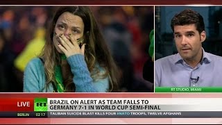 Download National catastrophe: Brazil in shock after horrendous defeat in World Cup Video