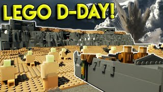 Download HUGE LEGO D-DAY CITY BATTLE! - Brick Rigs Gameplay Challenge & Creations - Military Roleplay Video