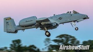Download A-10 Warthog Twilight Attack Demo W/Pyro - EAA AirVenture Oshkosh 2017 Video