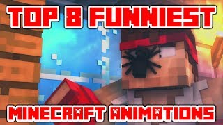 Download Minecraft Videos ″Try Not To Laugh or Grin in Minecraft - TOP 8 Funniest Minecraft Animations Video