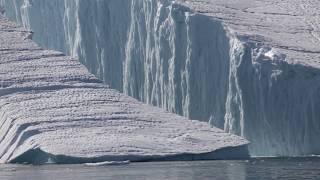 Download Large Iceberg Breaking near Ilulissat Video