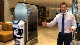 Download Robots Take Over Luggage Duties at Sheraton Los Angeles San Gabriel [Aethon TUG] Video
