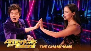 Download Shin Lim Performs His KISS Transfer Trick And Its SHOCKING! | AGT Champions Video
