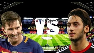 Download Lionel Messi Vs Hakan Calhanoglu Top 10 Free Kick Battle Video
