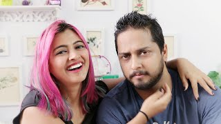 Download Husband REACTS to My PINK HAIR! (Indian Family Vlogs) SuperWowstyle Prachi Video