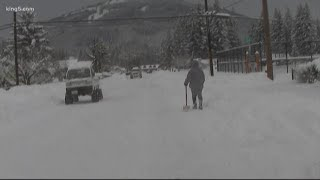 Download Much of north Puget Sound region digging out from snow. Video