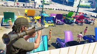 Download CRASHING AN EXOTIC CAR MEET! | GTA 5 THUG LIFE #218 Video