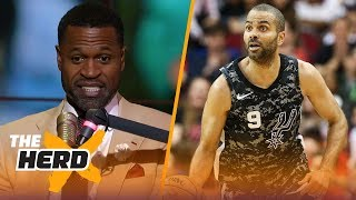 Download Stephen Jackson talks losing respect for Tony Parker, LeBron and Kryie's health | THE HERD Video