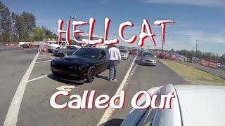 Download Ludicrous Tesla takes down multiple Hellcat Challengers Drag Racing! Video