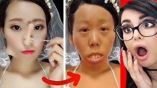 Download CRAZY VIRAL ASIAN MAKEUP TRANSFORMATIONS + TUTORIALS COMPILATION Video