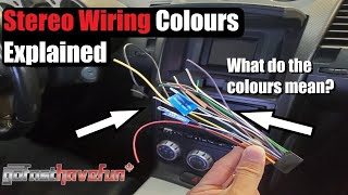Download Stereo Wiring Colours Explained (Head Unit wiring) | AnthonyJ350 Video