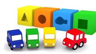 Download Aprende los números con 4 coches. Dibujos animados. Video