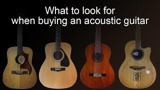 Download Buying an acoustic guitar - common faults to look for Video