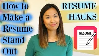 Download Resume Hacks - How to Make a Resume Stand Out Video