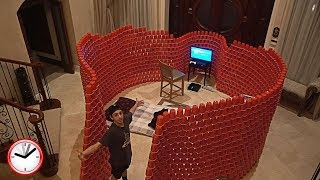 Download BUILDING A GIANT 10,000 RED CUP FORT!! (24 HOUR OVERNIGHT CHALLENGE) | FaZe Rug Video