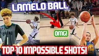 Download LAMELO BALL TOP 10 IMPOSSIBLE SHOTS! MID GAME HALF COURT SHOT! Video