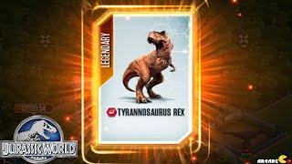 Download Jurassic World The Game - SUPER RARE LEGENDARY TYRANNOSAURUS REX ! Video