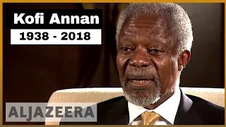 Download 🇺🇳 🇬🇭 Kofi Annan, former UN chief, dies at 80 | Al Jazeera English Video