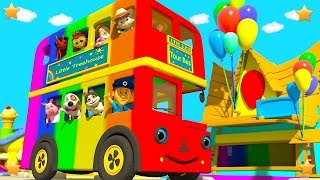 Download Wheels On The Bus Go Round and Round | Kindergarten Nursery Rhymes for Children by Little Treehouse Video