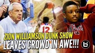 Download Zion Williamson Dunk Show Leaves Crowd in Awe! 35/8 in Front of Roy Williams! Video