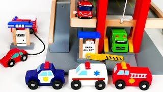 Download Parking Deck Garage Playset with Gas Pump and a Car Wash! Many Car Toy Vehicles For Kids Video