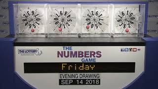 Download Evening Numbers Game Drawing: Friday, September 14, 2018 Video