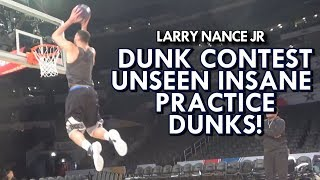 Download LARRY NANCE JR NASTY DUNKS DURING DUNK CONTEST PRACTICE - UNSEEN FOOTAGE Video