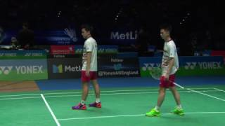 Download Yonex All England Open 2017 | Badminton SF M5-MD | Gid/Suk vs Con/Kol Video