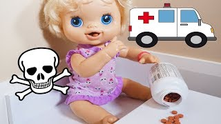 Download BABY ALIVE Emily Goes To Hospital Because She Snuck Into The Medicine! Video