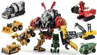 Download Transformers Movie 2 ROTF Supreme Construction Devastator 6 Vehicle Combine Robot Car Toys Video